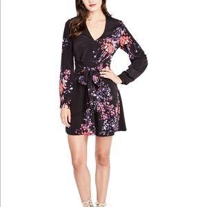 NEW! Rachel Roy Black Dress with Floral Print